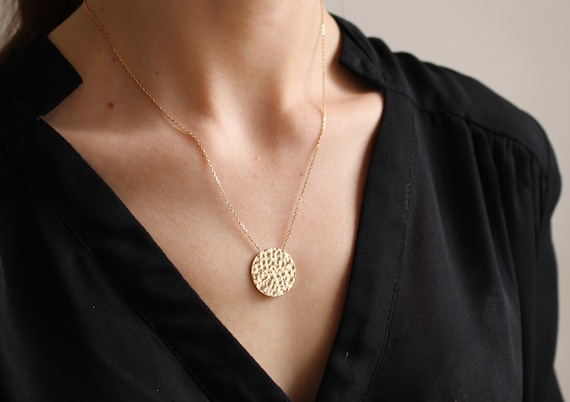 Gold geometric necklace for women, Chain necklace,  thin and dainty necklace, everyday necklace