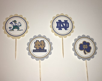 Notre Dame cupcake toppers
