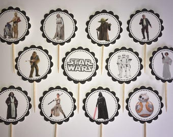 Star Wars -12 cupcake toppers