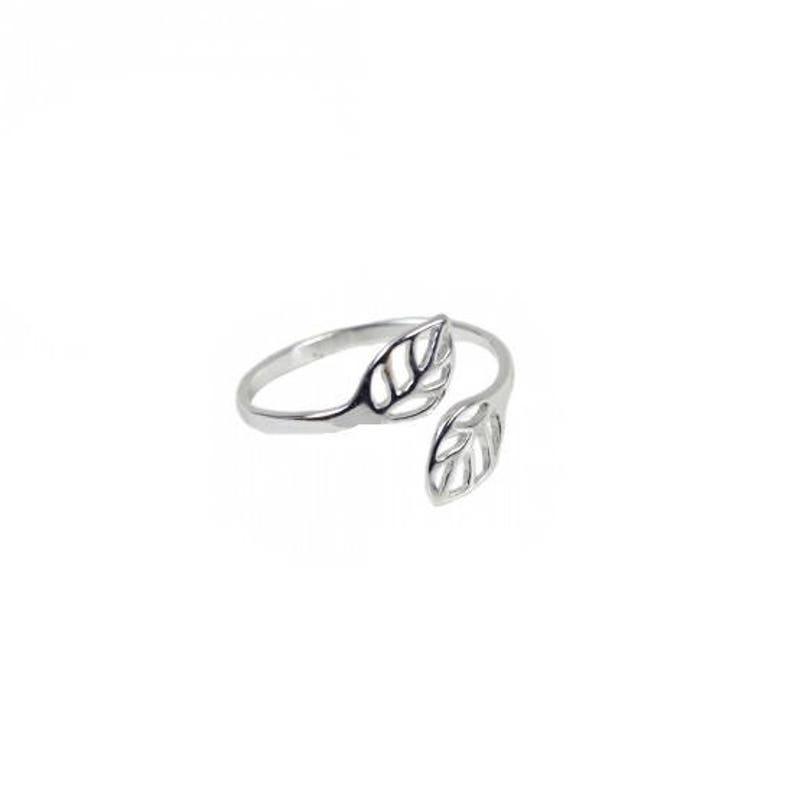 6313bb03c7aa55 Srebrny pierścień liści srebrny pierścień liście regulowany | Etsy