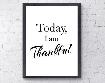 Thanksgiving print Etsy