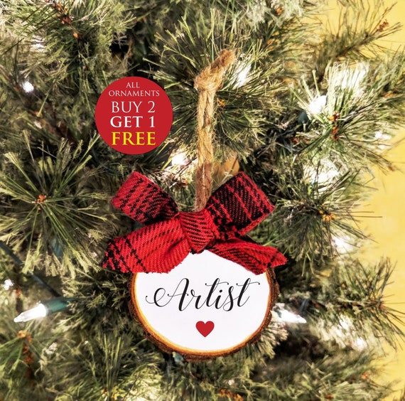 Artist Christmas Ornaments.Artist Christmas Ornament Art Christmas Gift Custom Colors And Free Personalization All Ornaments Buy 2 Get 1 Free
