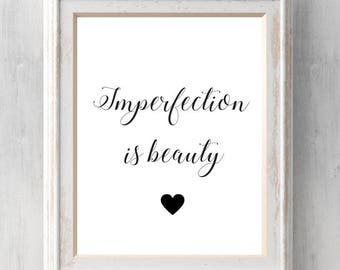 Marilyn Monroe Print. Imperfection is beauty.  Madness is genius. Absolutely ridiculous. All Prints BUY 2 GET 1 FREE!