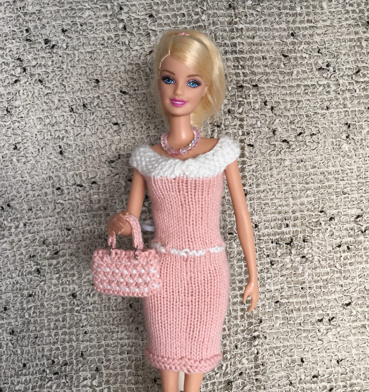 Barbie Doll Knitting Pattern for Knitted Dress with Belt ALL Sizes ...