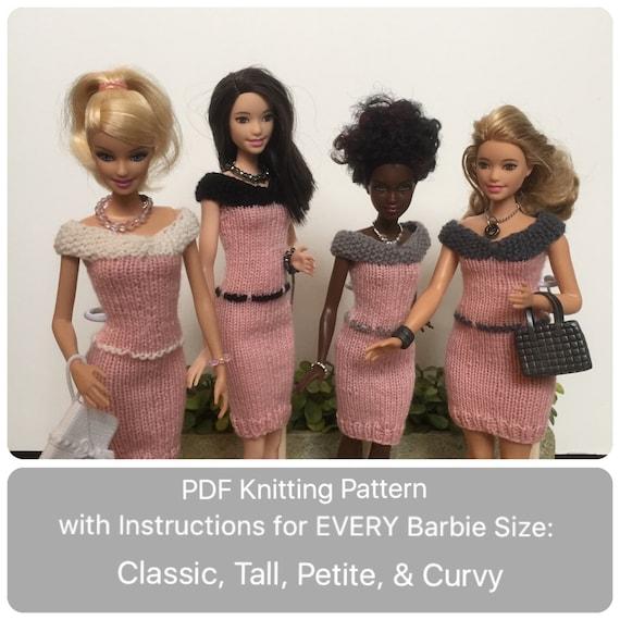 Barbie Knitting Pattern For Rockabilly Dress Headband Knit Barbie