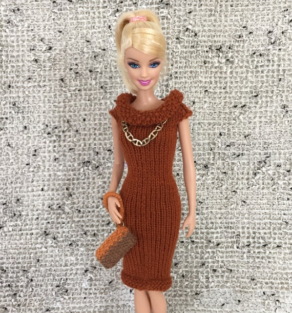 Versatile Barbie Knitting Pattern For Infinity Scarf And Slip Dress