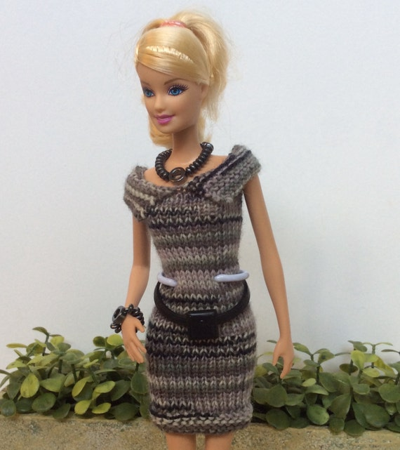 Classic Barbie Clothes Knitting Pattern Bundle For Essential Dresses