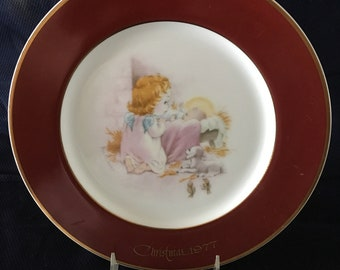 Christmas 1977 Rockwell commemorative plate