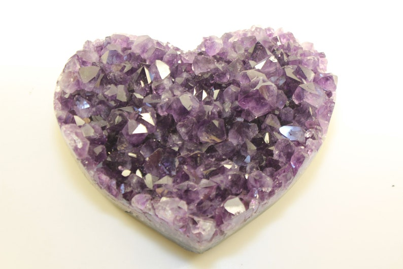 Natural Amethyst Geode Drusy Crystal Figurine Paperweight Specimens Home Decor