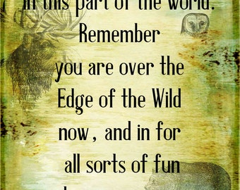 J.R.R. Tolkien - Quote - Edge of the Wild - Transfer on Canvas - FREE Shipping in US