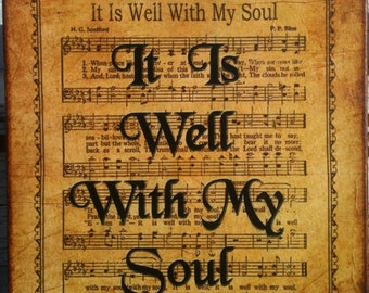 It Is Well With My Soul - Hymn - Transfer On Canvas