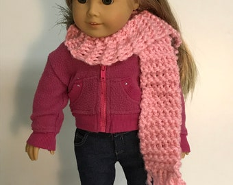 Knitted Doll Scarf Etsy