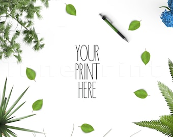 GREEN Nature Style,Stock Photography / Styled Background / Graphic Art Photograph / Mockup High Res Jpeg file 300Dpi