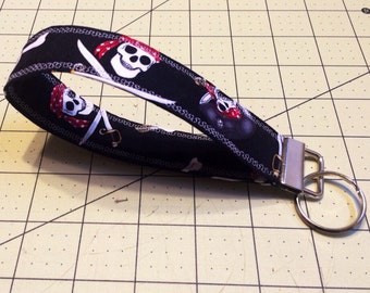 Pirate Key Fob, Wrist-let Key Chain - Handmade and Free Shipping