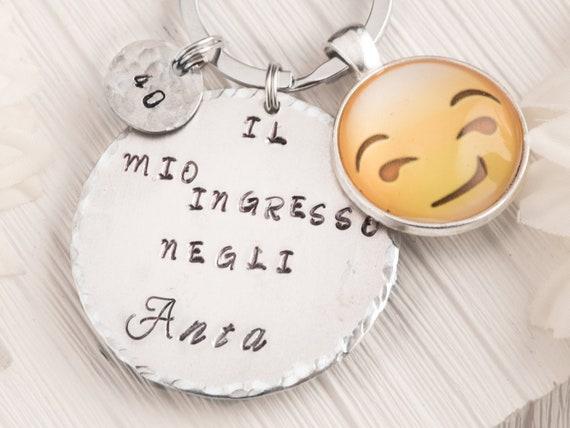 made in italy da AtelierMinnie Portachiavi con faccina How do you feel Today