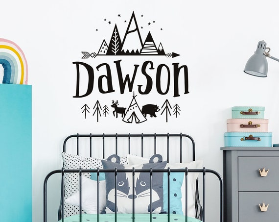 Custom Name Vinyl Decal - Personalized Name Vinyl Decal, Personalized Kid Name, Custom Kids Name, Custom Nursery Decal, Personalized Nursery