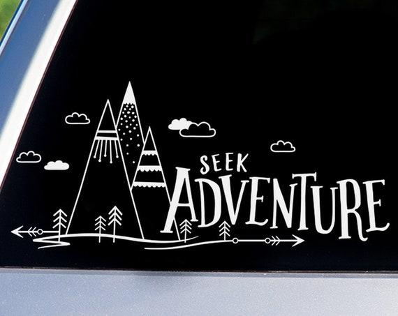 Seek Adventure Car Decal - Car Decals, Window Decals, Car Sticker, Adventure Car Decal, Adventure Decal, Travel Car Decal, Explore Car Decal