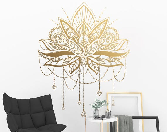Mandala Wall Decal - Mandala Lotus Decal, Large Vinyl Wall Decal, Unique Mandala Decor, Great for Gifts and More!