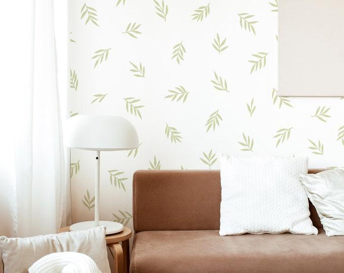 Floral Wall Decals - Boho Nursery Wall Art, Modern Farmhouse Decor, Kids Room Decor