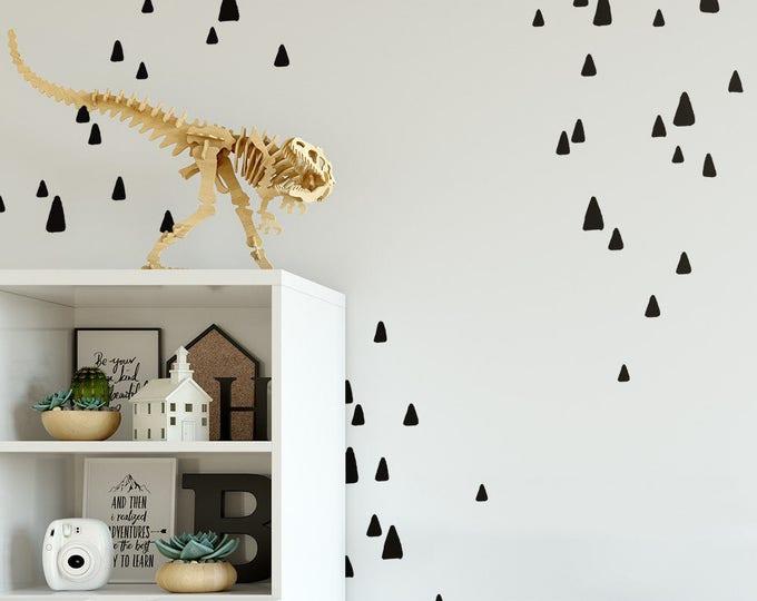 Sketched Triangle Wall Decals - Scandinavian Decals, Vinyl Wall Decals, Minimalist Decals, Geometric Wall Decals, Mountain Wall Decals