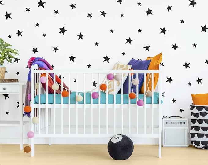Star Wall Decals - Nursery Wall Decals, Star Wall Stickers, Removable Wall Decals, Kids Room Decals, Nursery Wall Decor, Kids Room Decor