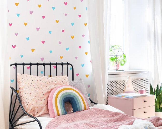 Heart Wall Decals - Peel and Stick Wall Stickers, Kids Room Decor, Nursery Wall Art, Polka Dot Decals