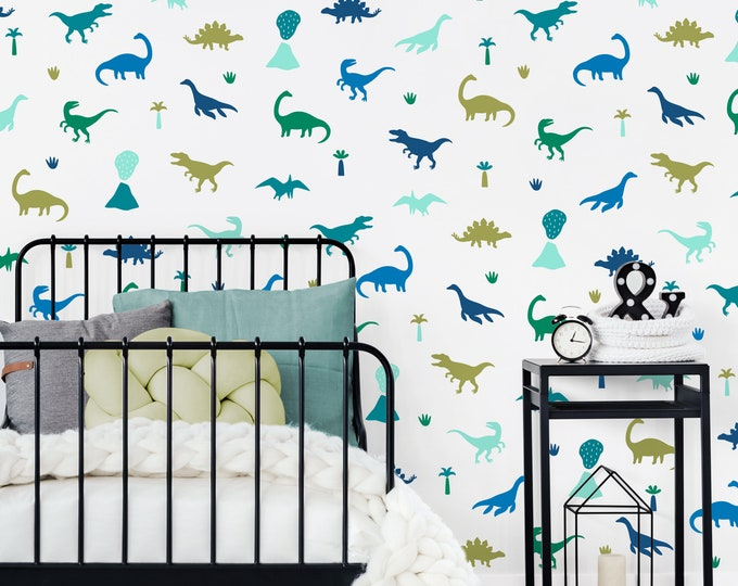 Dinosaur Wall Decals - Dinosaur Wall Decor, Dinosaur Art, Wall Stickers, Dinosaur Room, Kids Room Decor, Neutral Nursery Decor