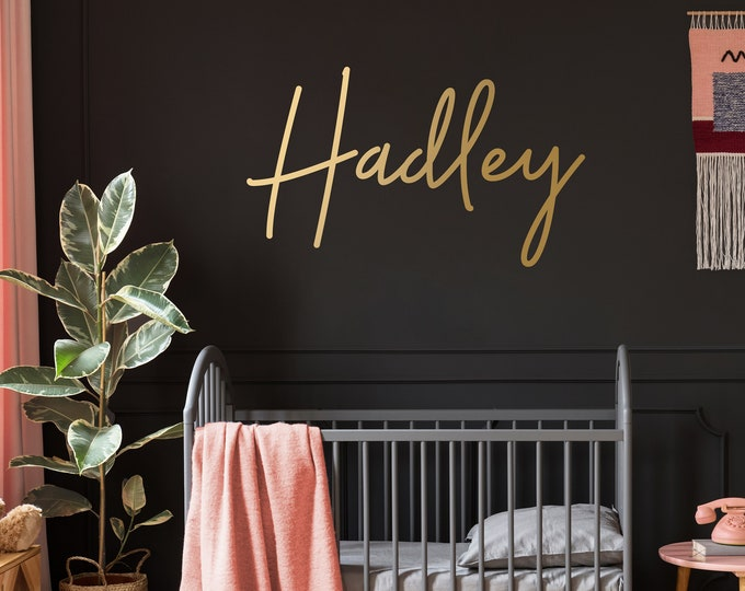 Personalized Name Wall Decal - Custom Wall Sticker, Kids Name Sign, Nursery Decor