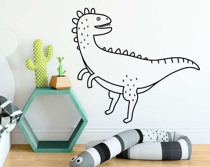 Dinosaur Wall Decal - Dinosaur Decor, Dinosaur Gift, Dinosaur Wall Art, Nursery Decor, Nursery Wall Sticker, Kids Room Decor, Vinyl Decal