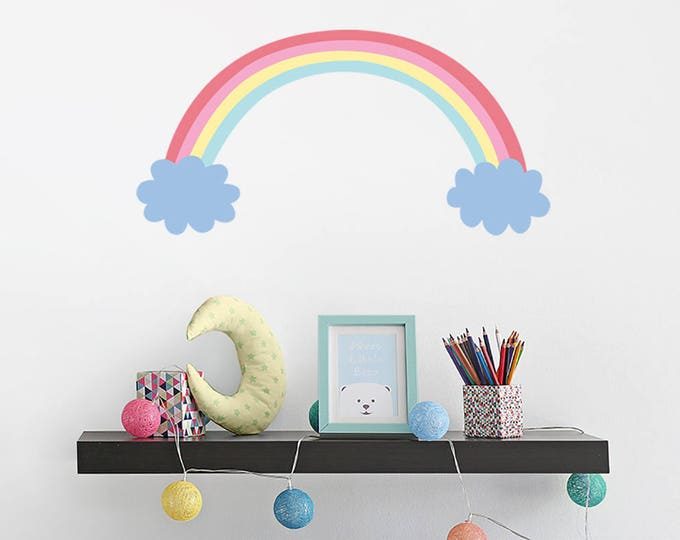 Rainbow Wall Decal - Nursery Decor, Kids Room Decor, Removable & Reusable Printed Decal, Wall Decor, Gift, Baby Shower, Kids Wall Art