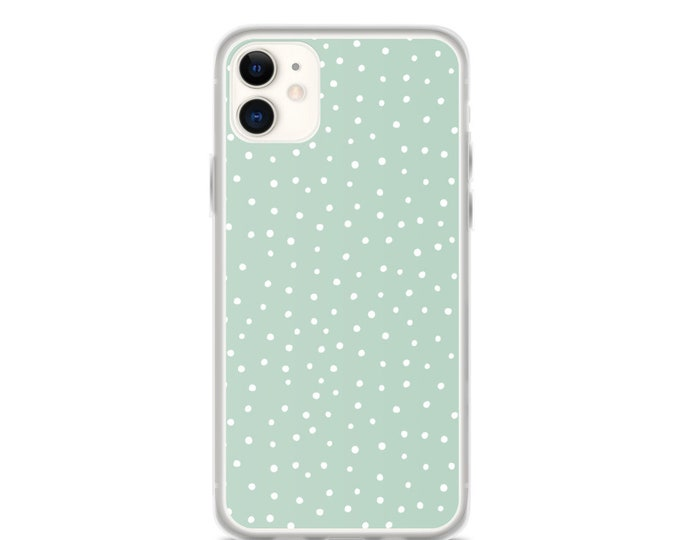 iPhone Case - Mint Polka Dot Phone Case for iPhones