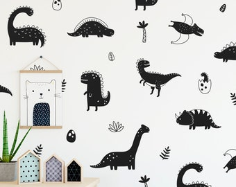 Dinosaur Wall Sticker Vinyl Decal Home Interior Design Living Room Decoration Kids Room Wall Art Murals Waterproof Stickers 14dinz