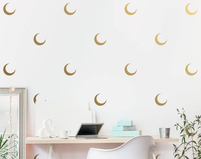 Crescent Moon Wall Decals - Moon Decals, Modern Decals, Vinyl Wall Decals, Minimalist Wall Decor, Wall Sticker, Wall Decor