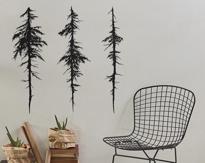 Tree Wall Decals - Halloween Decor, Modern Vinyl Decal, Unique Gift Idea, Home Decor, Removable Wall Art