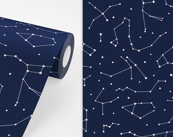 Constellations Wallpaper - Peel and Stick Removable Wallpaper, Space Wall Decor, Celestial Wall Art, Nursery Wallpaper, Kids Room Decor