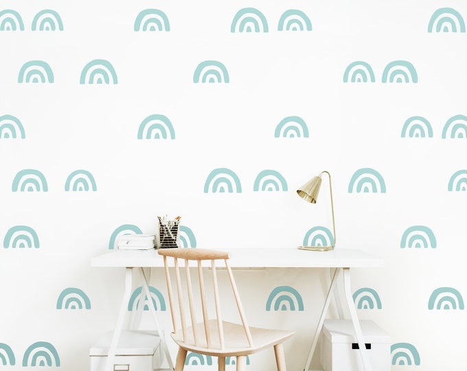 Scandinavian Pattern Wall Decals - Nursery Decals, Rainbow Decals, Scandinavian Decor, Kids Room Decor, Nursery Decor