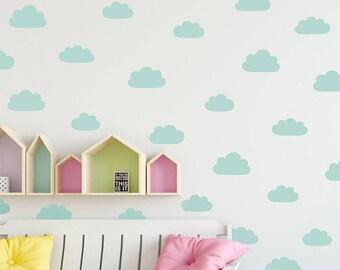 Cloud Wall Decals   Vinyl Wall Decals, Nursery Wall Decals, Kids Bedroom  Decals, Cute Cloud Wall Stickers, Bedroom Wall Decor