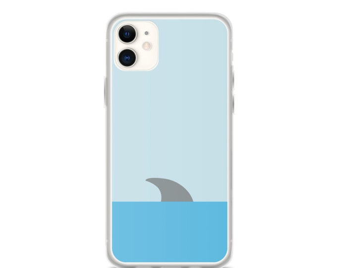 iPhone Case - Shark in Water Phone Case, Minimal Art Design