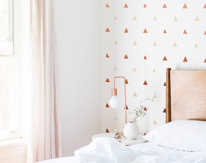 Triangle Wall Decals - Nursery Decals, Geometric Wall Decor, Kids Room Wall Art, Peel-and-Stick Wall Stickers
