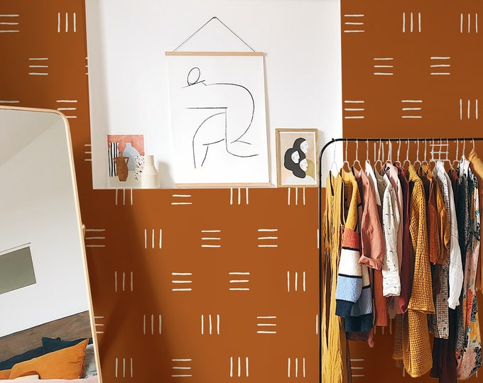 Geometric Wallpaper - Peel and Stick Removable Wallpaper, Modern Wall Art, Minimalist Wall Decor
