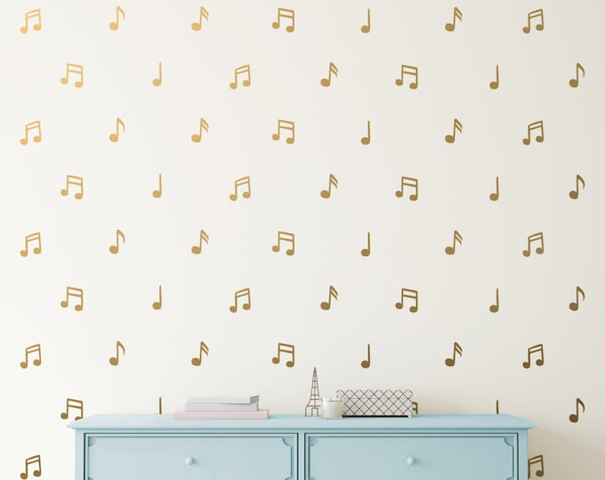 Music Note Wall Decals - Vinyl Wall Decals, Music Notes, Wall Stickers, Unique Gift Idea