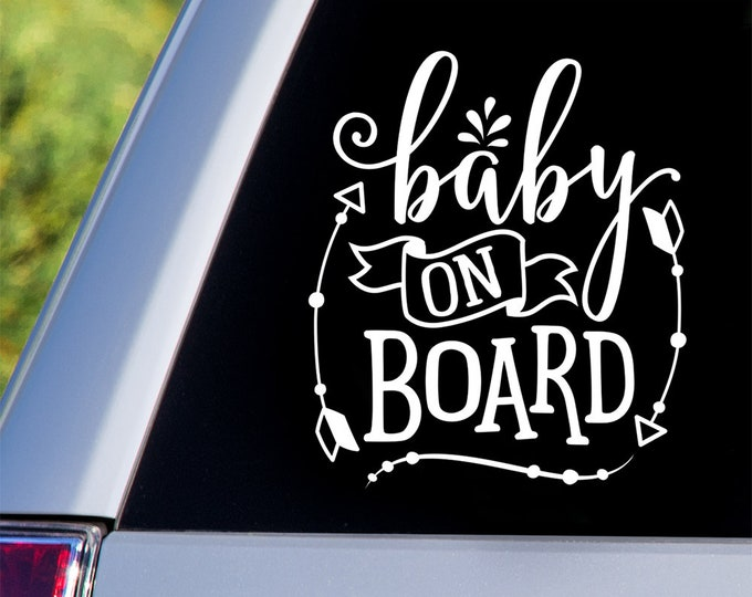 Baby on Board Car Decal - Car Decals, Window Decals, Car Stickers, Baby Car Window Decals, Car Window, Baby on Board, Baby on Board Sticker