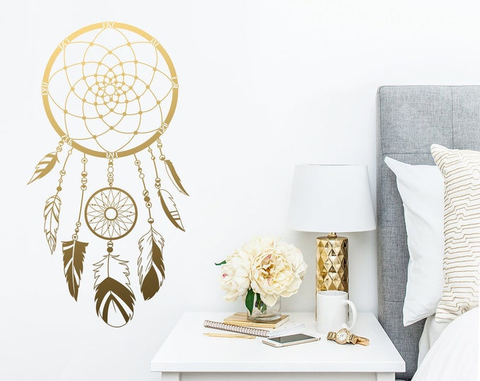 Dream Catcher Wall Decal - Vinyl Wall Decal, Dream Catcher, Nursery Decal, Boho Wall Decor, Gift for Her, Wall Sticker, Kids Room Decal
