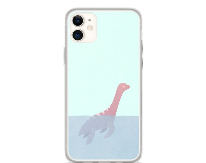 iPhone Case - Loch Ness Monster Phone Case, Minimal Sea Monster Design