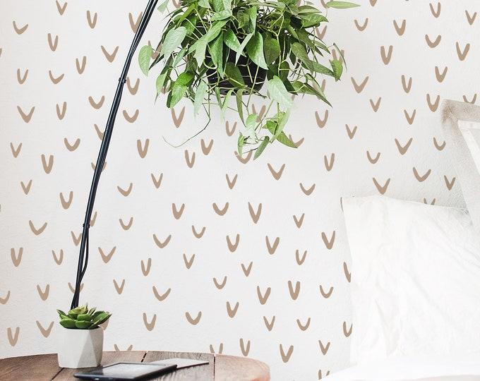Abstract U-Shape Wall Decals - Nursery Decals, Scandinavian Decor, Kids Room Decor, Nursery Wall Decor, Bedroom Decals, Wall Stickers