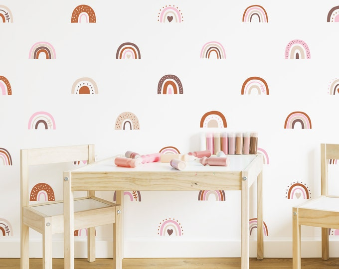 Patterned Rainbow Wall Decals - Boho Rainbows, Personalized Rainbow Wall Stickers, Colorful Wall Decor, Kids Room Decor, Nursery Wall Art