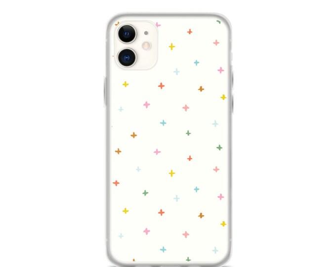 iPhone Case - Colorful Geometric Phone Case for iPhones, Minimal Plus Sign Design