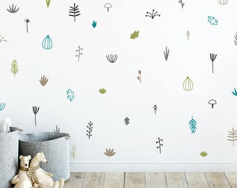 Woodland wall decal | Etsy