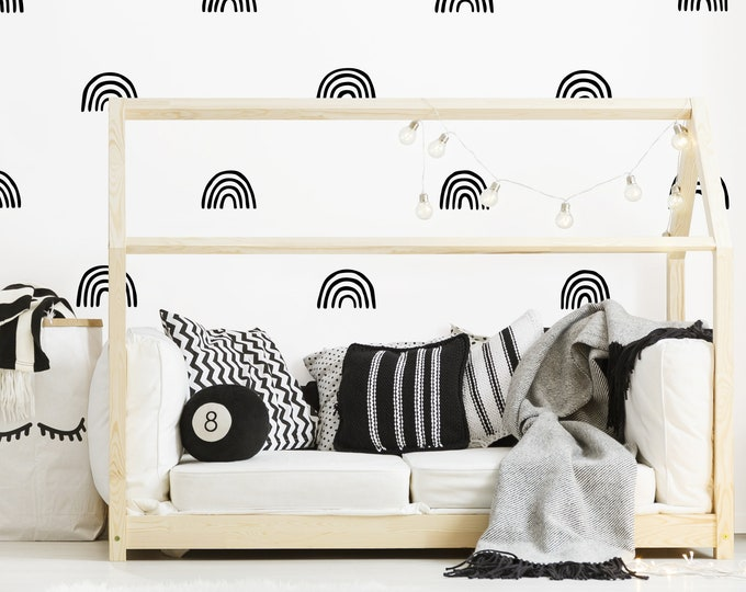 Scandinavian Rainbow Wall Decals - Nursery Decals, Rainbow Wall Sticker, Scandinavian Decor, Kids Room Decor, Nursery Decor