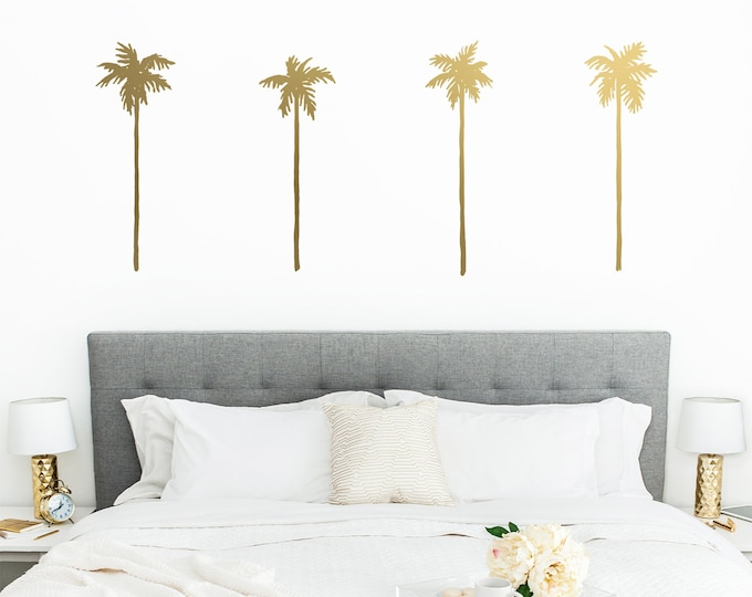 Palm Tree Wall Decals - Palm Decals, Wall Stickers, Beach Decor, Beach Lover Gift, Tropical Decor, Palm Tree, Nursery Decor, Kids Room Decor
